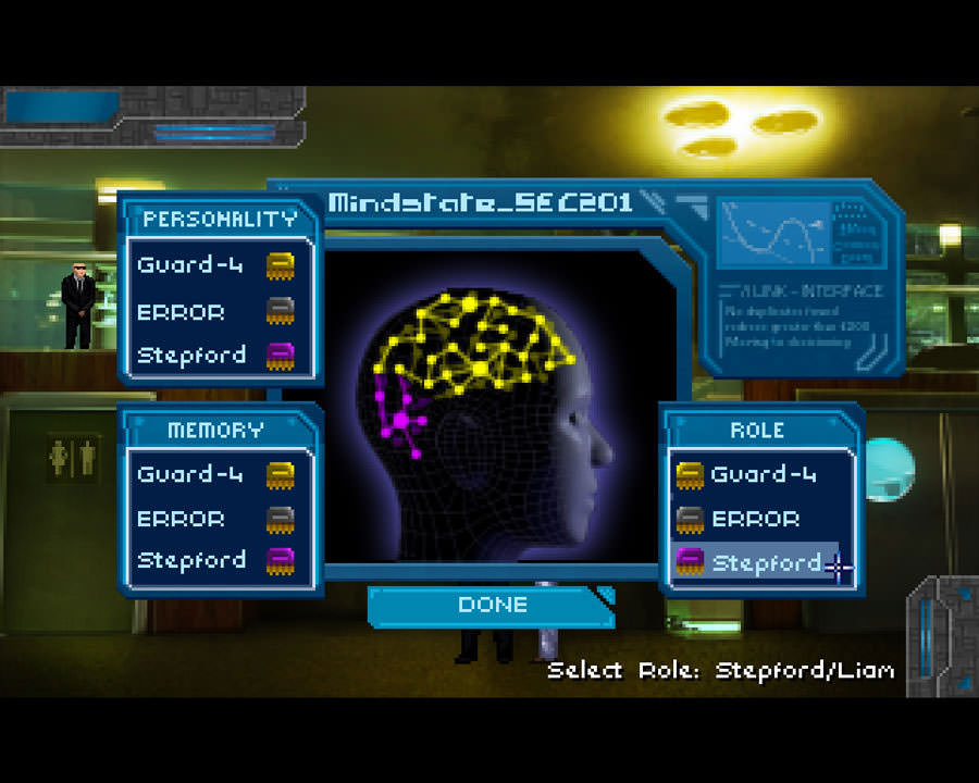 Technobabylon: personality split