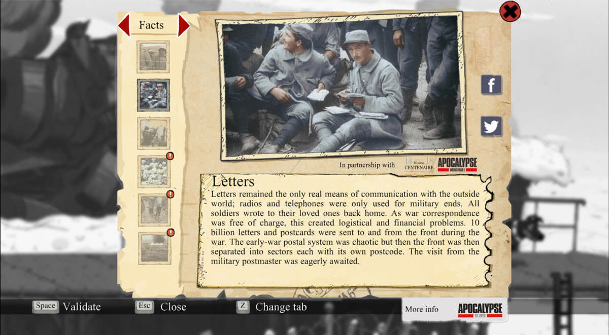 Valiant Hearts: letters from home